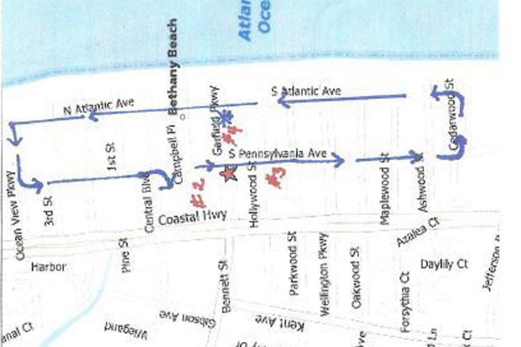 Bethany Beach parade map