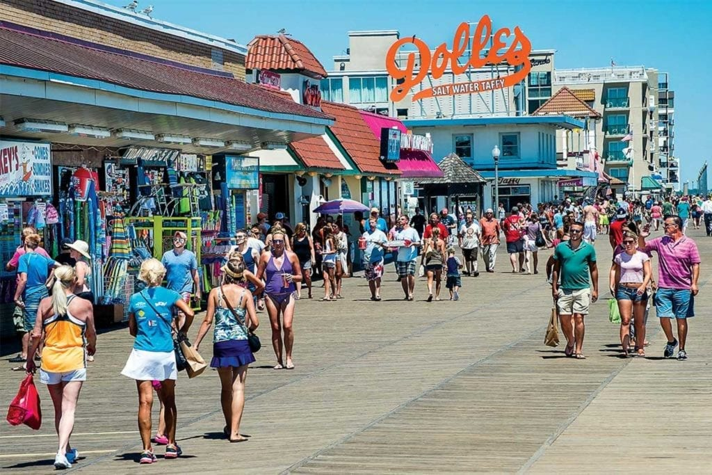 Rehoboth Beach Boardwalk, Bethany Beach Boardwalk, Cape Henlopen State Park boardwalk