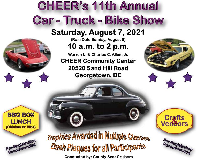 Annual Cheer Car, Truck & Bike Show